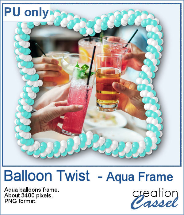 Balloon Twist frame in PNG format