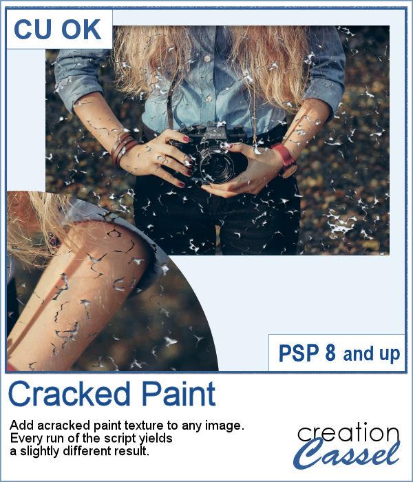 Cracked Paint Texture script for PaintShop Pro
