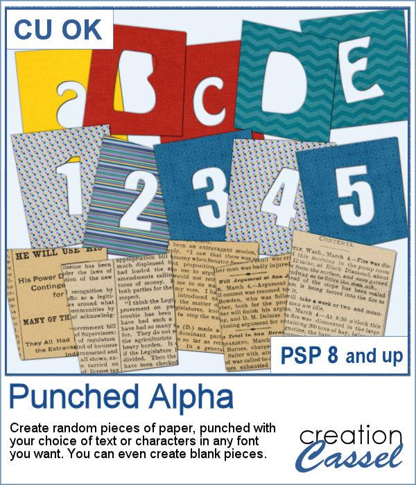 Punched Alpha script for PaintShop Pro