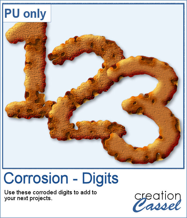 Corroded digits