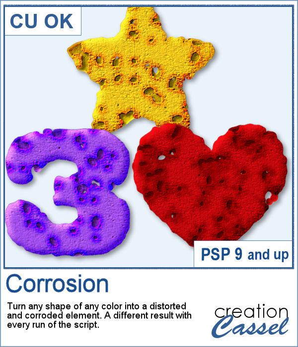 Corrosion script for PaintShop Pro