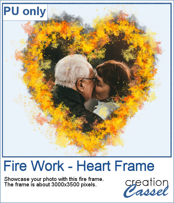 Heart shape fire frame