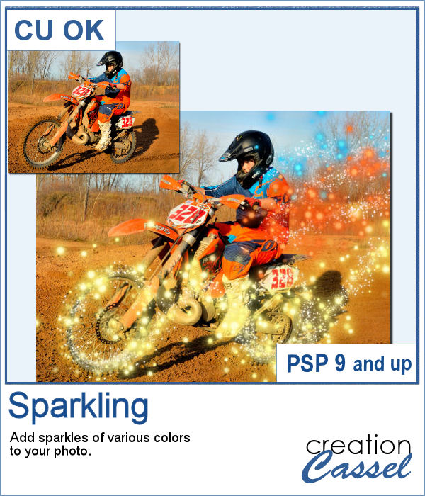 Sparling script for PaintShop Pro