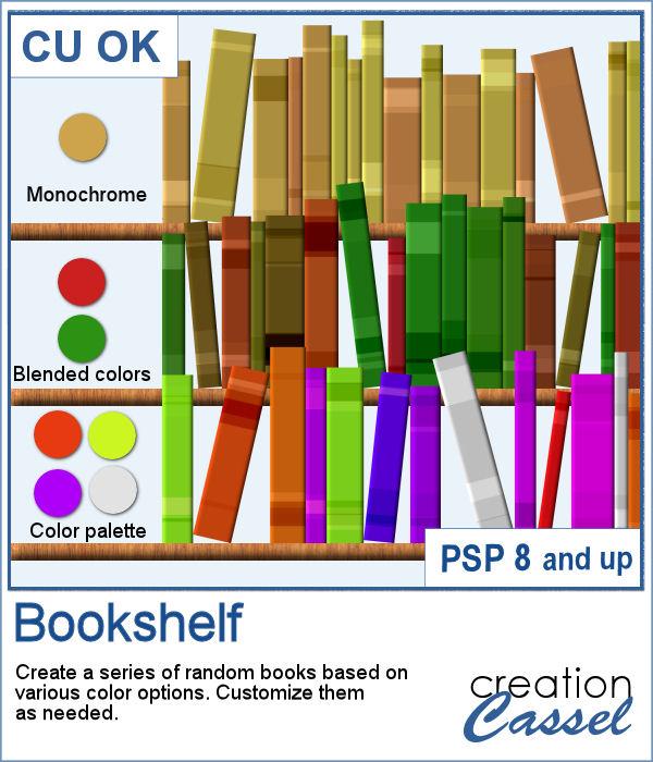 Bookshelf script for PaintShop Pro