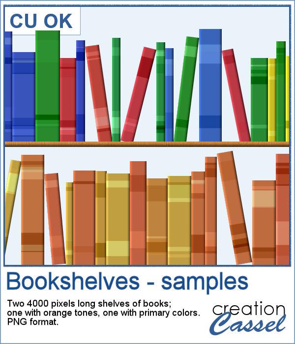Bookshelves in PNG format