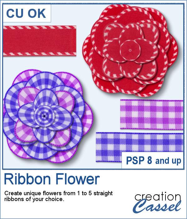 Ribbon flower script for PaintShop Pro