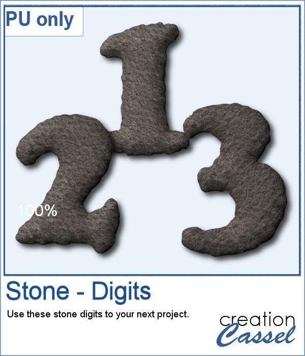 Stone texture digits