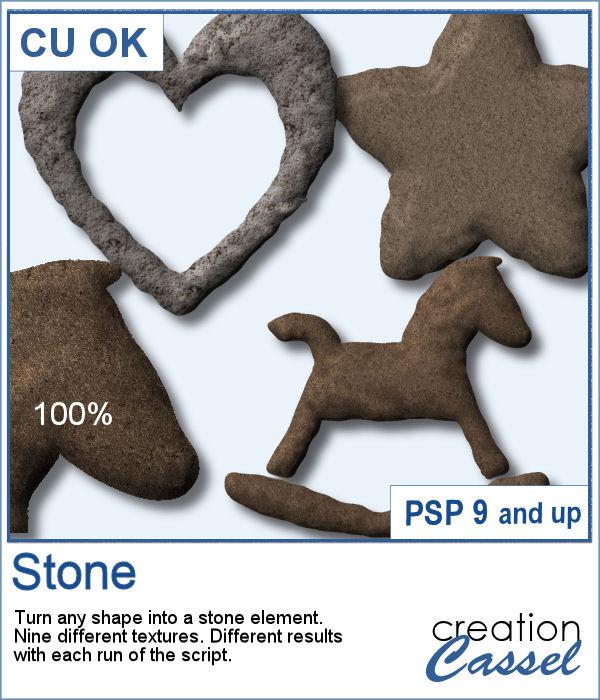 Stone texture script for PaintShop Pro