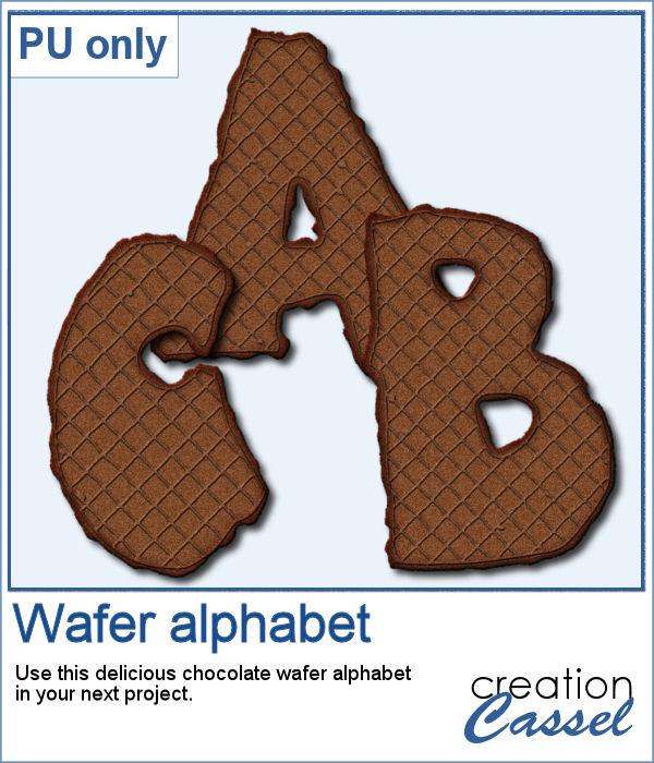 Chocolate Wafer alphabet