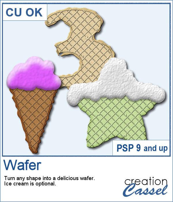 Wafer script for PaintShop Pro