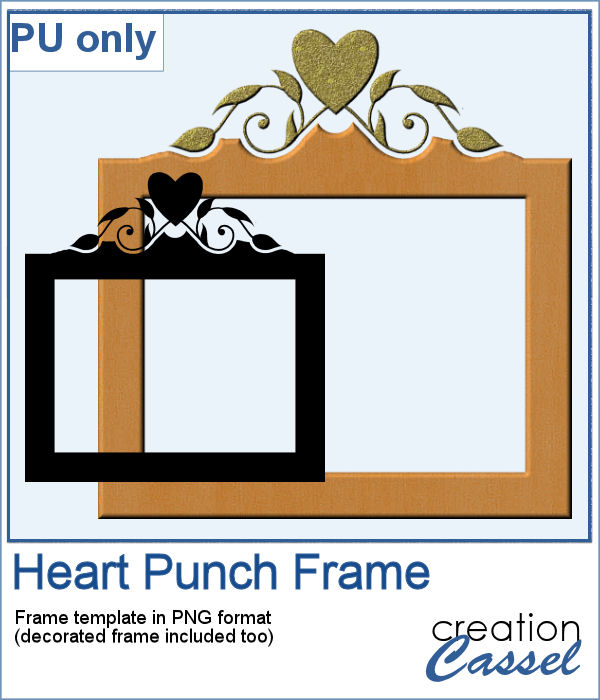 Heart Punch frame in PNG format