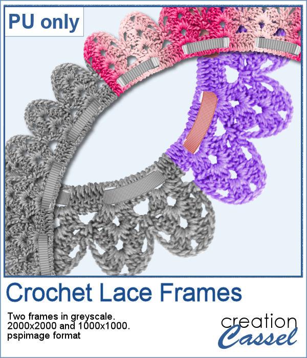 Crochet Lace frames