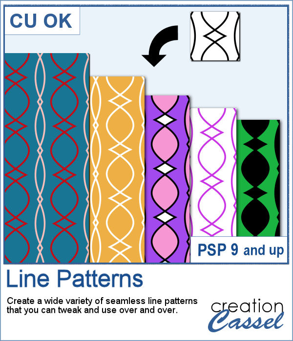 Line Patterns script for PaintShop Pro