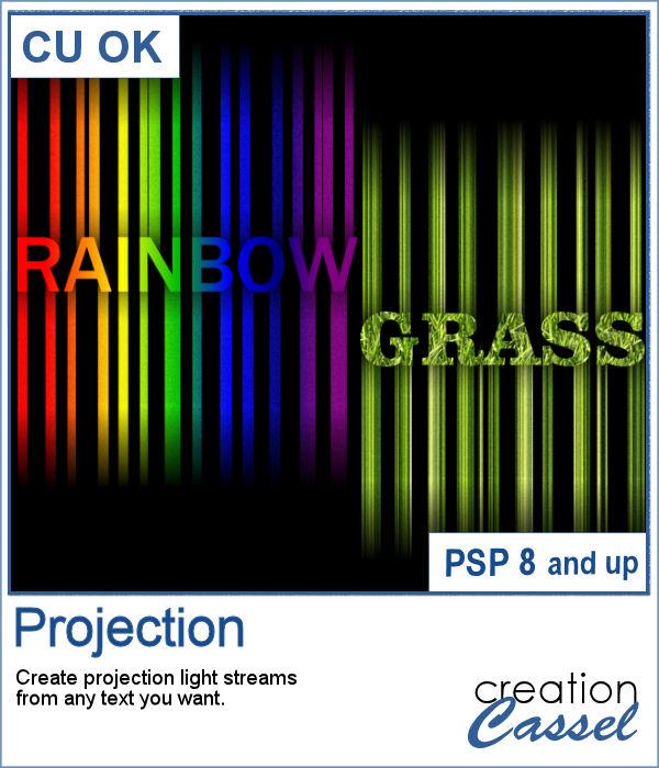 Projection lights script for PaintShop Pro