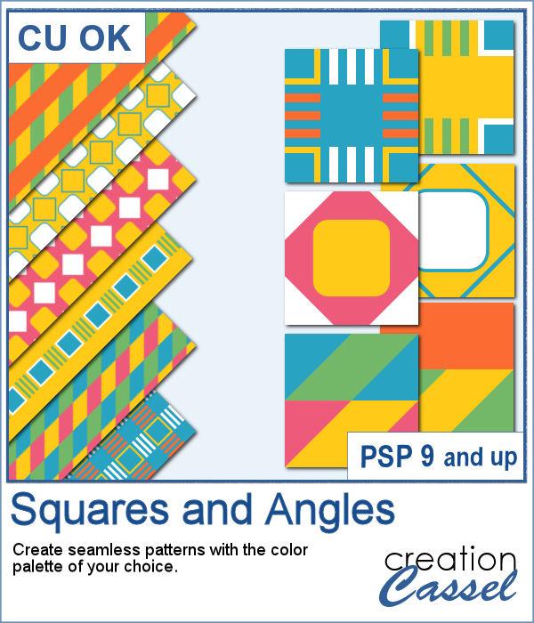 Squares and angles script for PaintShop Pro