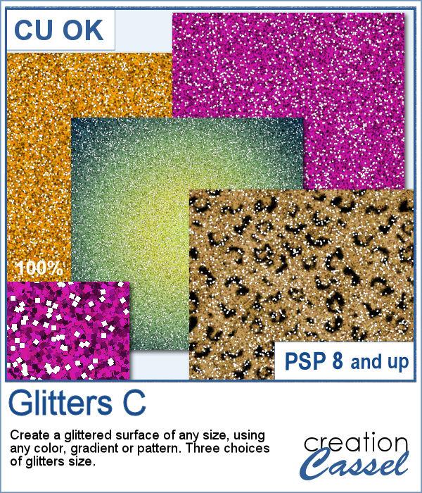 Glitters script for PaintShop Pro
