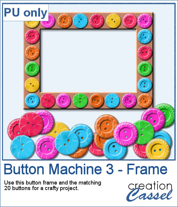 Button Frame in PNG format