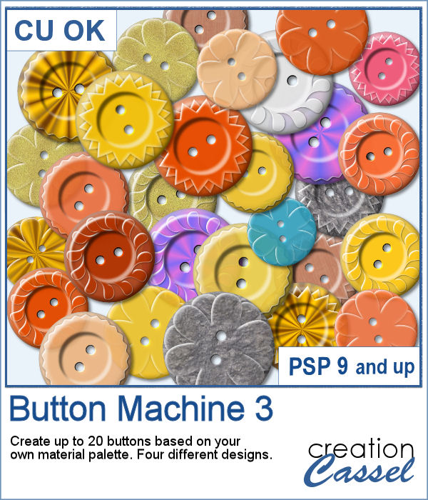 Button Machine script for PaintShop Pro