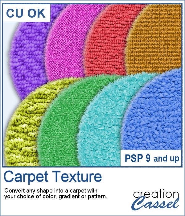 Carpet texture script for PaintShop Pro
