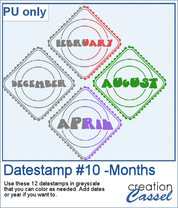 Monthly Datestamp in png format