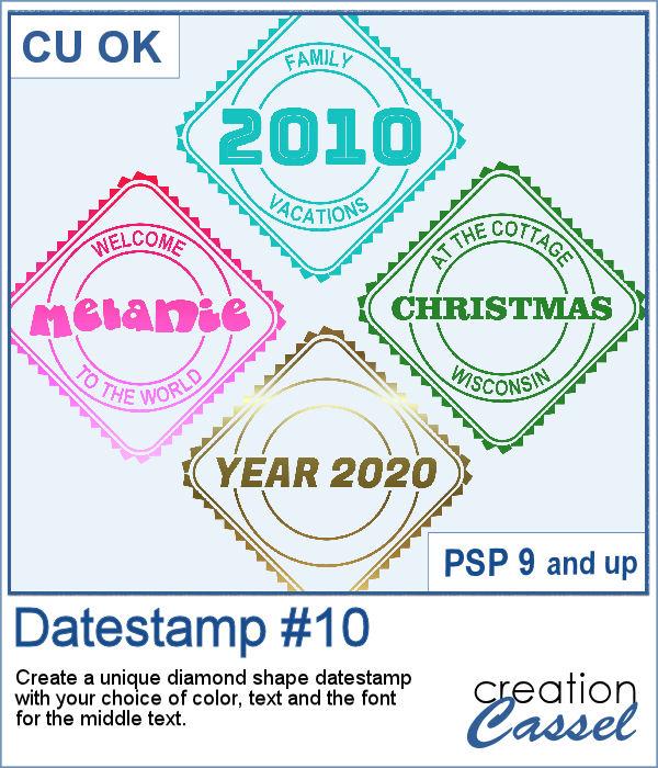Datestamp 10 script for PaintShop Pro