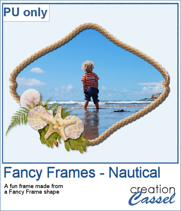 Fancy Frame - nautical theme - PNG format