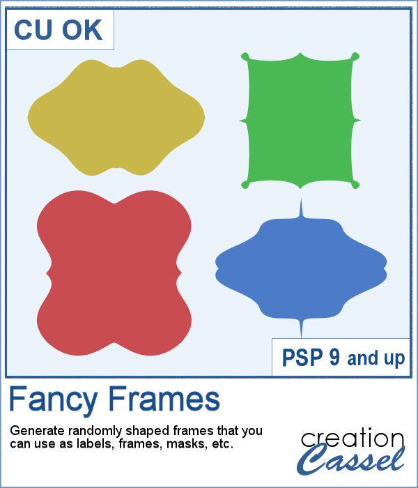Fancy Frame script for PaintShop Pro
