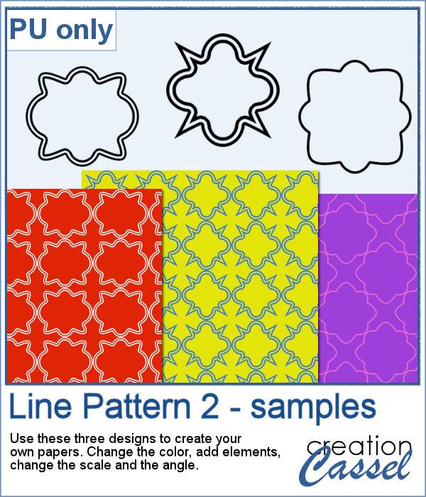 Quatrefoil pattern in png  format