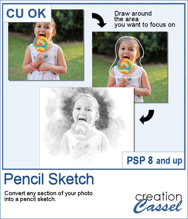 Pencil Sketch script for PaintShop Pro