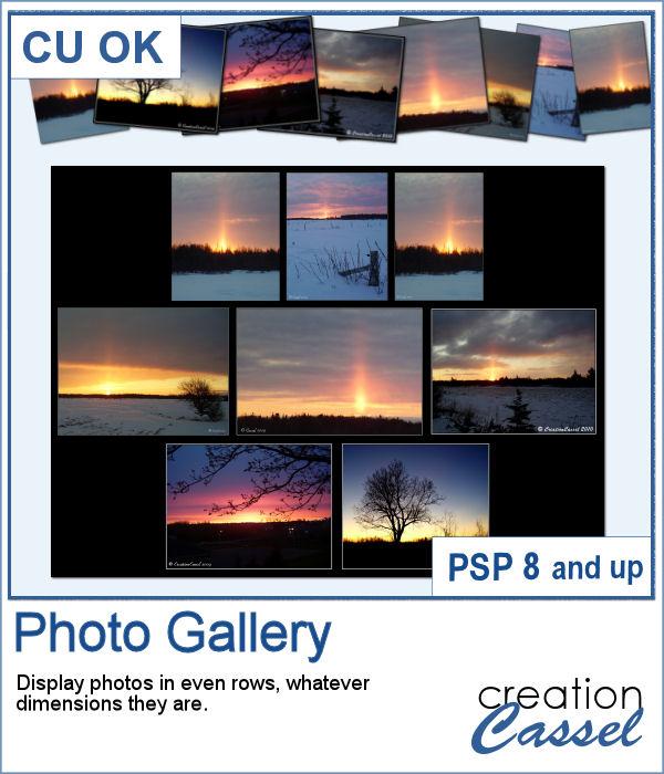 Photo Gallery script for PaintShop Pro