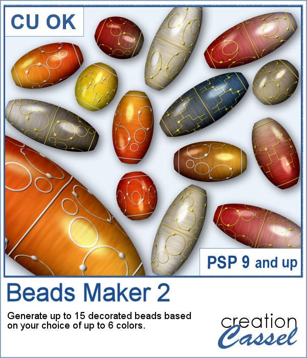 Beads Maker script for PaintShop Pro