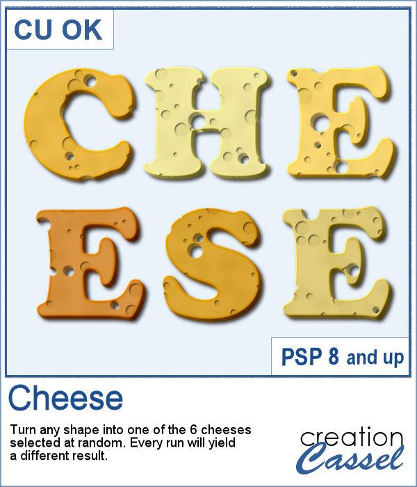 Cheese Texture script for PaintShop Pro