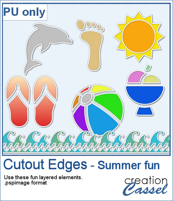 Summertime cutout edges