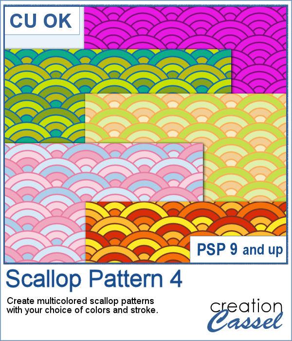 Scallop Pattern script for PaintShop Pro