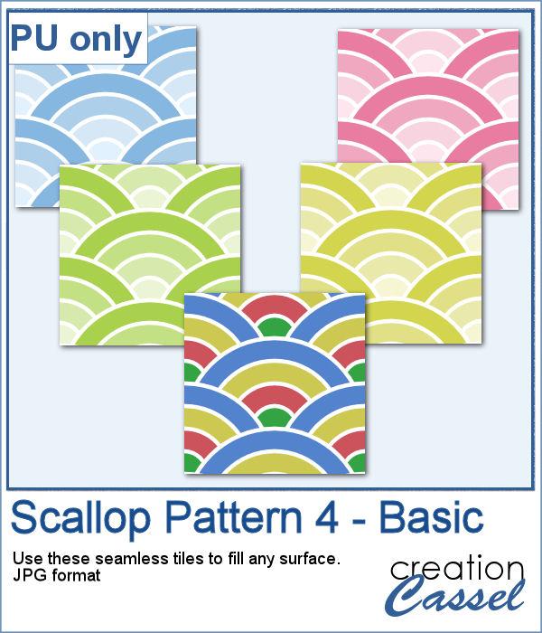 Scallop pattern tiles seamless