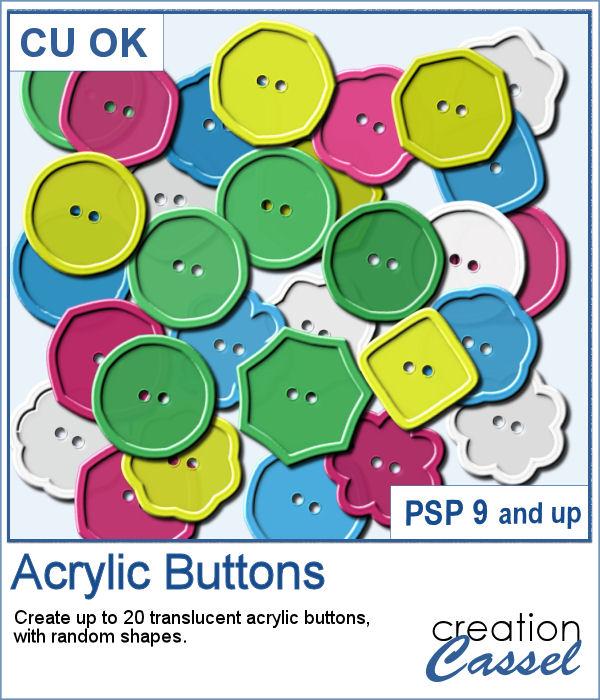 Acrylic button script for PaintShop Pro
