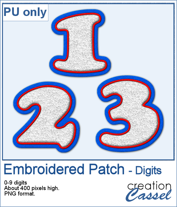 Embroidered patch digits