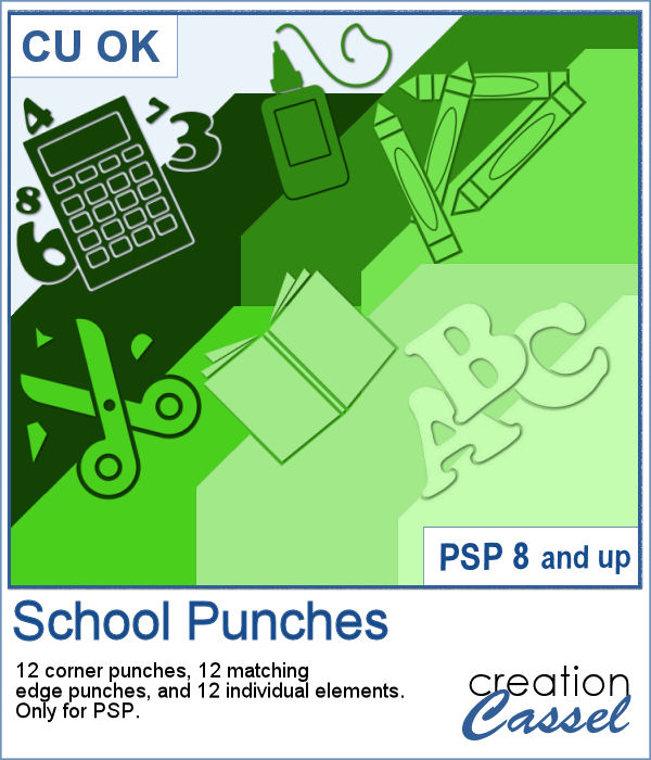 School themed punches for PaintShop Pro