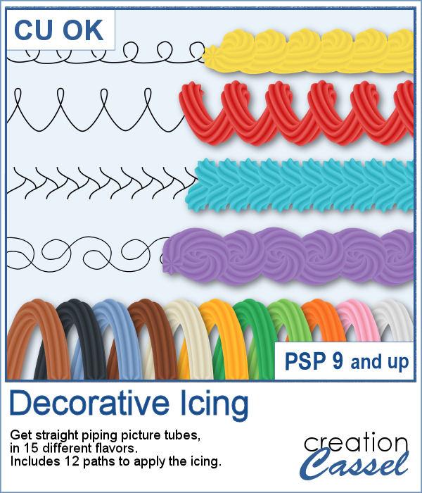 Decorative Icing picture tubes for PaintShop Pro